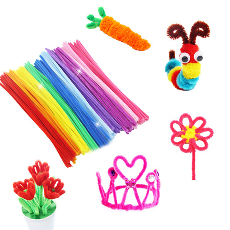 100pcs/lot  Jouet Enfant Lote Twist Rods Children Handmade DIY Art Craft Decorations Educational Toys Kids DIY Art Craft Gift