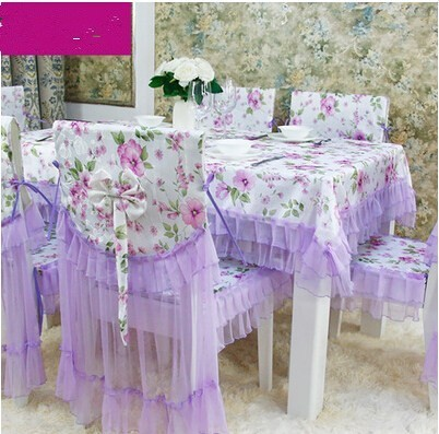 PASAYIONE Cotton Pastoral Style Floral Tablecloth With Lace Table Linen Cloth Cover Overlays Toalhas De Mesa Dining Chair Cover