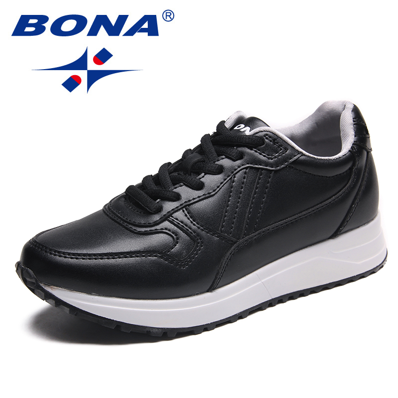 BONA New Classics Style Women Running Shoes Lace Up Women Sport Shoes Synthetic Outdoor Jogging Sneakers