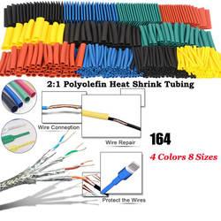 164 шт набор Полиолефиновая усадка Ассорти термоусадочная трубчатый электрод кабель трубчатая изоляция комплект трубок CLH @ 8
