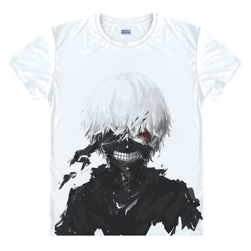 Tokyo Ghoul   T  -  shirts   New Japan Anime Kaneki Ken Adjustable Zipper Cosplay Costume Animation Cartoon Ninja Creative 3D   T     Shirts