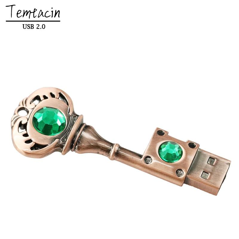 USB-stick 64 GB Metalen sleutel Pen Drive 64 GB Pen Drive USB 2.0 - Externe opslag - Foto 6