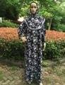 O envio gratuito de 10 pçs/lote Muçulmano jilbabs e abayas Vestido Maxi mulheres impresso oração com preços Por Atacado ca-04