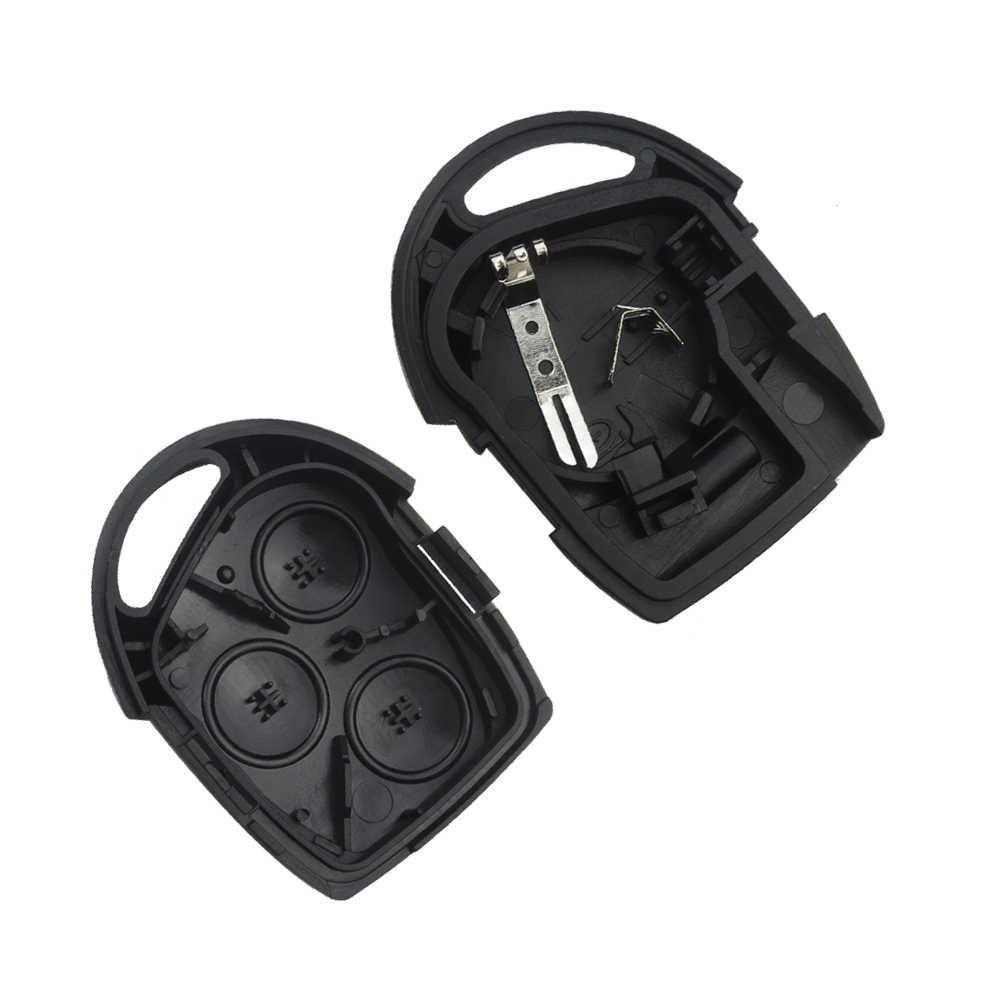 Okeytech 3 boutons remplacement voiture clé coque housse pour Ford Mondeo Focus 2 3 Festiva Fiesta Transit clé à distance lame