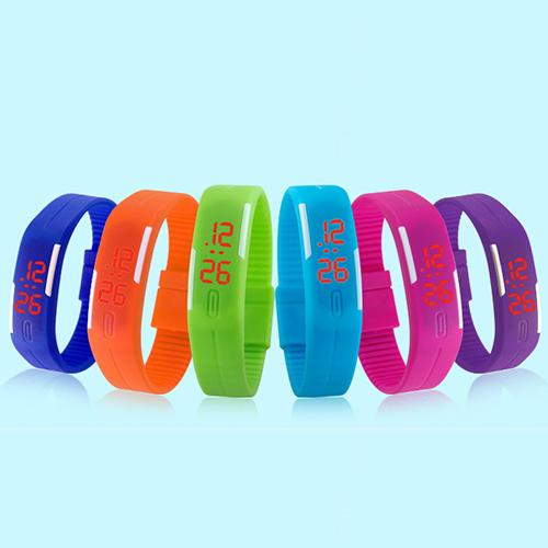 Men Women Fashion Silicone Red LED Sports Bracelet Touch Digital Wrist Watch Electronics Military Watch Relojes