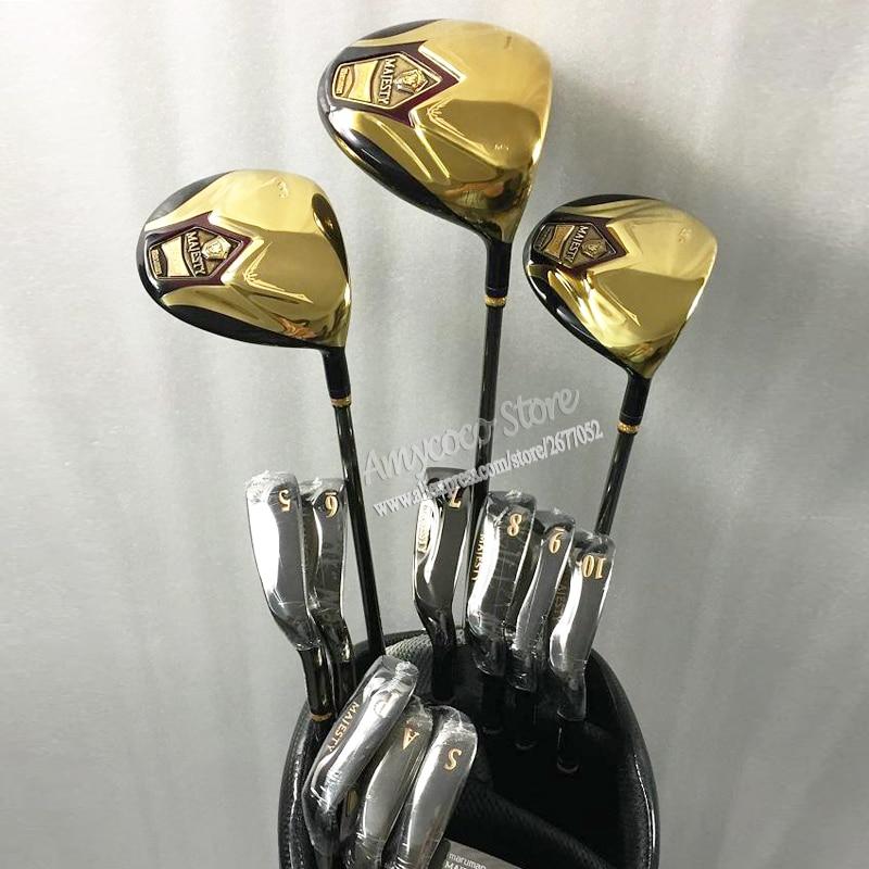 Nya Golfklubbar Maruman Majesty super7 kompletta klubbar set Maruman Golf Drive + fairway wood + strykjärn Graphite golf shaft Gratis frakt