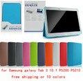Original de Negocios Caso de Cuero Ultra Fina Delgada Cubierta de LIBRO Para Samsung Galaxy Tab 3 P5200 P5210 10.1 envío gratis