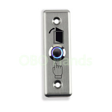 Free shipping Stainless Steel Door Exit Button Switch With LED Blue Backlight emergency push button switch For Home Security(China)