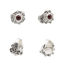 JETTINGBUY Unisex Women's Men's Punk Rings Retro Dragon Claw Evil Eye Skull Stainless Steel Biker Gothic Ring New Arrival(China)