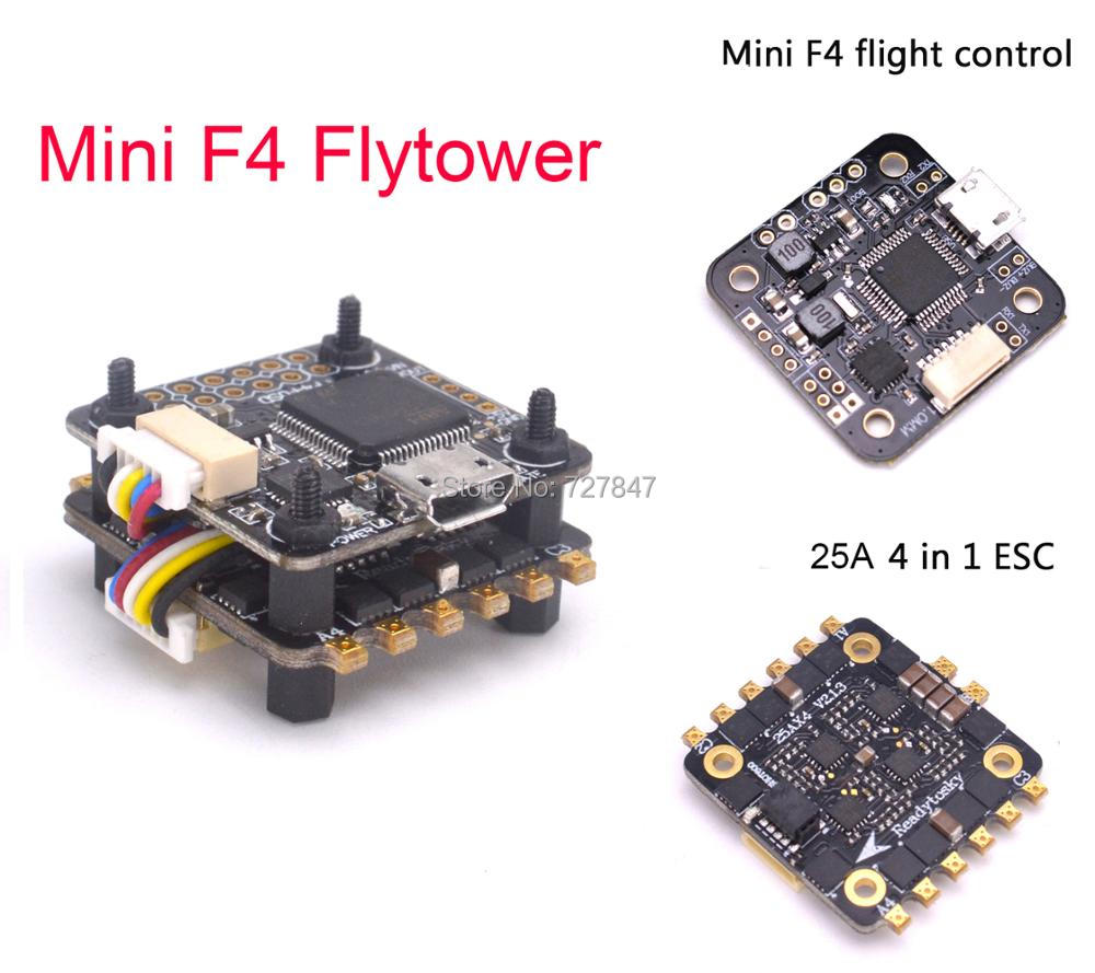 Mini F4 Flytower Flight control Integrated OSD 4 in 1 Built-in 5V 1A BEC 25a ESC Support Dshot For FPV RC Drone original emax f4 magnum all in one fpv stack tower system f4 osd 4 in 1 blheli s 30a esc vtx frsky xm rx