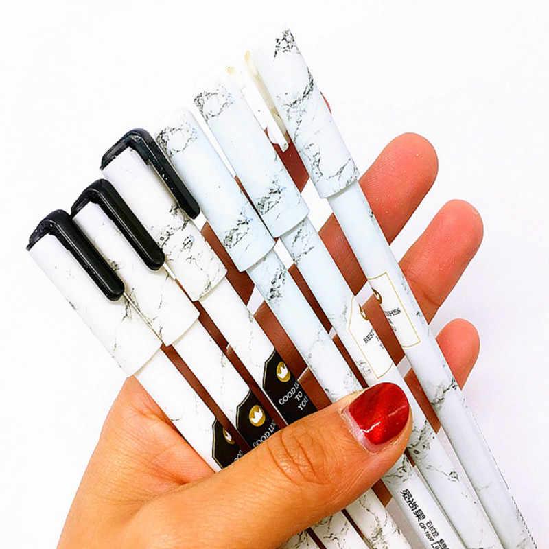 2018 nova caneta apagável nib 0.5mm marmoring caneta esferográfica com cartucho vendas presentes boutique estudante papelaria escritório caneta escrita