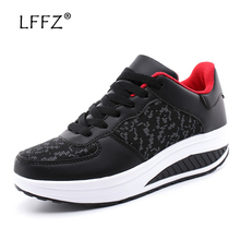 LFFZ Fashion Style Women Sneakers 3 Cm Waterproof Platform Flat 35-43 Big Size Footwear Spring Autumn Female Shoes