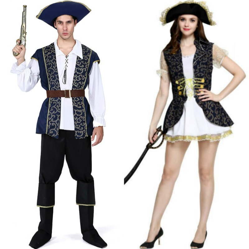 Women Dress Cosplay for Pirates of the Caribean 26 Style Male Adult Costume in Masquerade Party Sex Role Play Carnaval Halloween