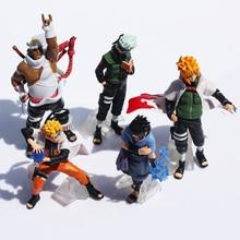 Free Shipping Naruto 1set 10 15cm Naruto Shippuden Sasuke Uzumaki Kakashi Doll Dolls Full 5pcs Premium Gifts (1set=5pcs)  Retail