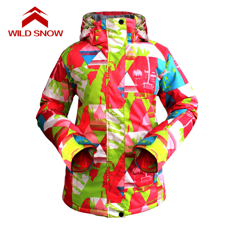 WILD SNOW Women ski Jacket Waterproof Skiing Jacket Hiking Thicken Clothes Brand New Snow Clothes Winter Thermal sportscoatWILD SNOW Women ski Jacket Waterproof Skiing Jacket Hiking Thicken Clothes Brand New Snow Clothes Winter Thermal sportscoat