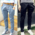 Новый 2017 весной и летом тонкий мужской случайных брюки шаровары Мужчин брюки черный khaki синий цвет Новый
