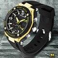 Homens relógios 2016 nova marca sanda homens esporte led relógio digital de choque ocasional militar multifuncional relógio de pulso relogio masculino