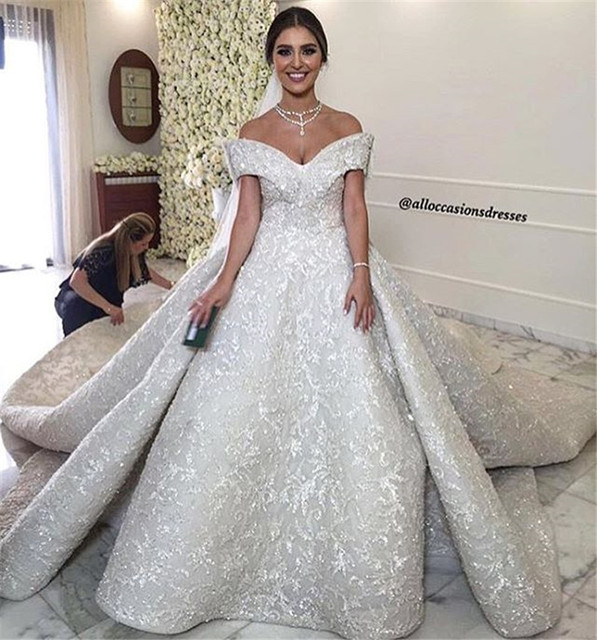 Long Elegant Off White Lace Formal Evening Dress Ball Gown Modest ...