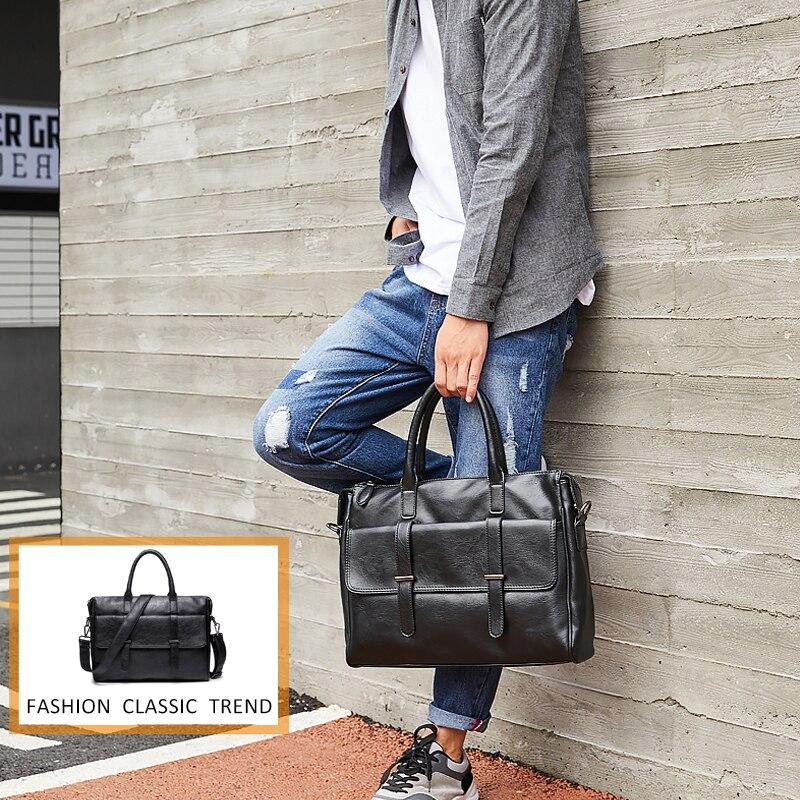 PU Leather Men Travel Handbag Casual Business Leather Mens Messenger Bag Crossbody Bag Bolsas Male