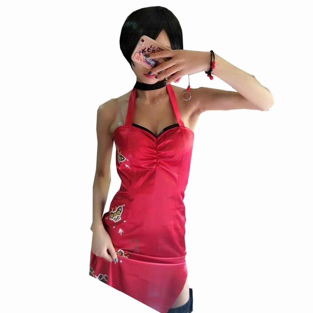 2018 Resident Evil Costumes Resident Evil 5 Ada Wong cheongsam Cosplay Costume