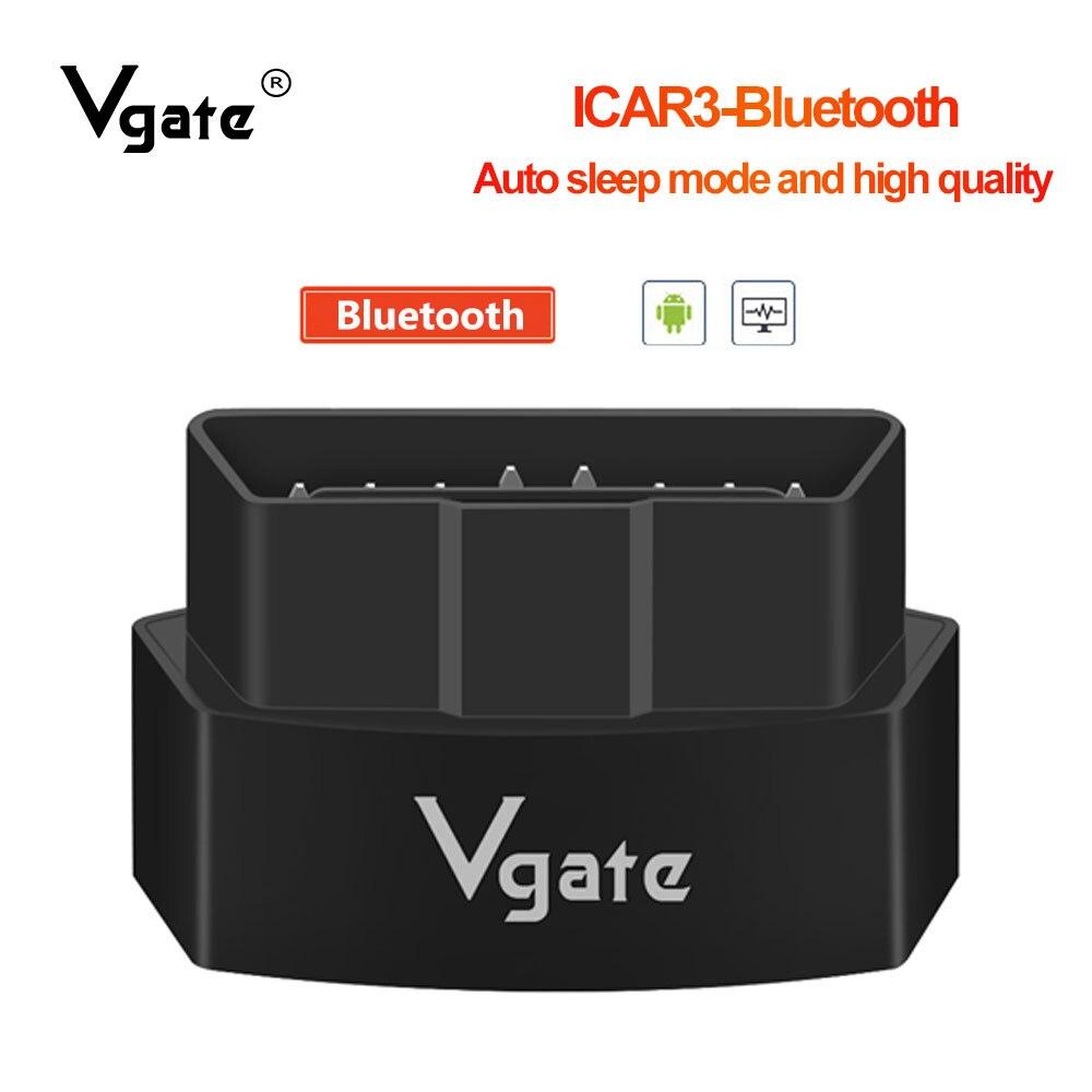 Vgate icar3 elm327 v 2,1 Bluetooth OBD2 diagnose-tool für android/PC Code Reader besser als ulme 327 V 1,5 PIC18F25K80 obd2 scan