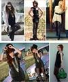 Mulheres senhoras Sexy Gothic Steampunk coxa alta meias s02