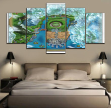 5 Panels Game Pokemon  Black And White 2 Poster Modern Home Decorative On Canvas Printing The Wall Picture Artwork