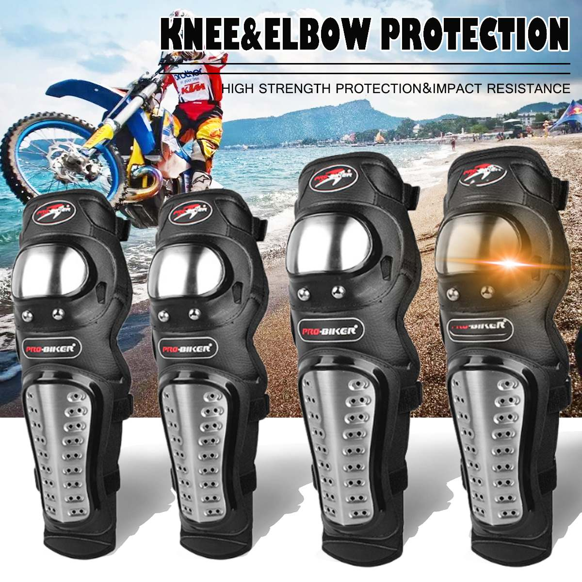 Motorcycle Knee Pad Motocross Knee Guards Motorcycle Protection Knee Motor-Racing Guards Safety Gears Race Brace