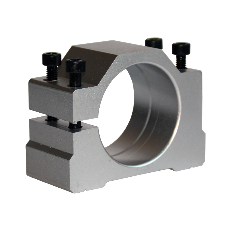 BSTOOL 65mm Spindle Motor Clamp Mount Bracket Diameter 65mm CNC Motor Spindle with 2PCS Screws for CNC Router Engraving Milling Spindle square chuck