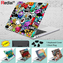 цена Redlai Graffiti Wall Print Hard Case For Macbook Pro 13 15 2019 A2159 Touch bar Laptop Cover Air 2018 A1932 Pro Retina 11 13 15 онлайн в 2017 году