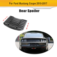 For Ford Mustang Coupe 2015 2016 PP Plastic Rear Window Louver Air Vent Black Sun Shade Visor Cover