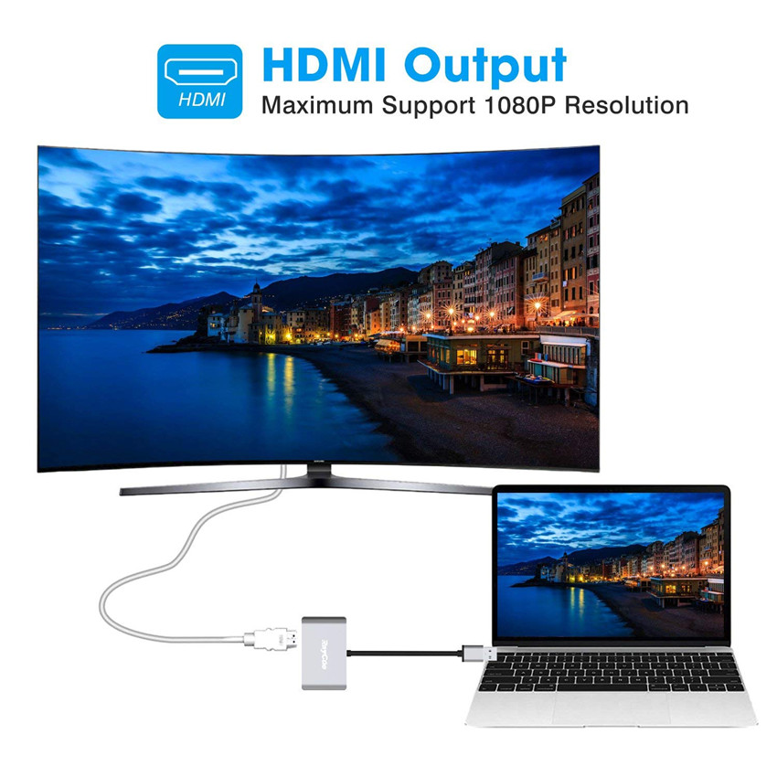 USB 3 0 to HDMI VGA Adapter Converter Support HDMI and VGA Display Simultaneously for Windows 7 8 10 HDTV Projector USB Adapter