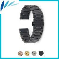 Stainless Steel Watch Band 20mm 22mm For MK Butterfly Buckle Strap Quick Release Wrist Belt Bracelet