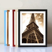 A4 Size Wood Photo Frame Wood Card Backplane Stand Table Display Photo Quadro Decoration TV Wall Frame Best Gift