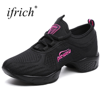 Ifrich 2018 Square Dance Shoes For Women Breathable Modern Ladies Shoes Black White Cheap Ballroom Dancing