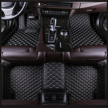 PU leather carpet fit Tesla Model S X Fit Alfa Romeo Stelvio Giulia Waterproof protection Car floor mats 2019 NEW