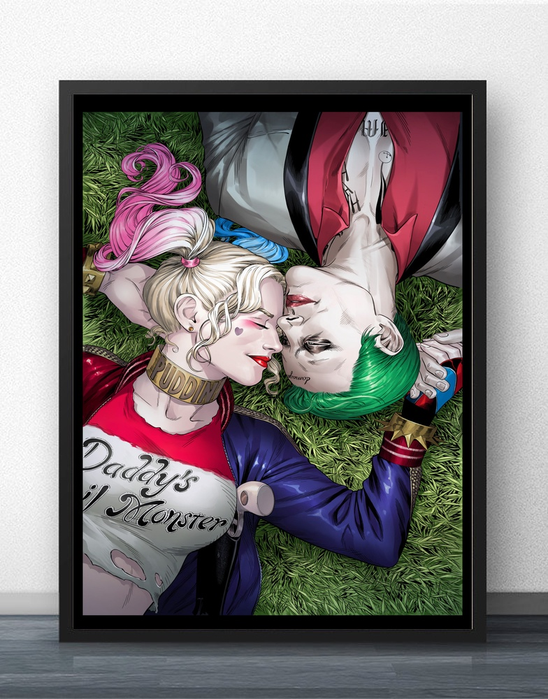 Harley Quinn Joker Suicide Squad Superheroes Movie Wall Art Wall Decor Silk Prints Art Poster Paintings For Living Room No Frame lemari baju bayi plastik mickey mouse