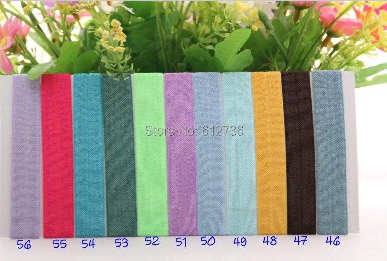 5e21262ee83a 55 colores 1600 unids FOE doblar elástico pelo Corbatas pulseras brazalete  para el accesorio del pelo del sostenedor del ponytail de la muchacha DHL  libre ...