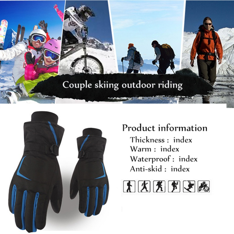 Windproof Riding Skiing Gloves Touch Screen Mountain Skiing Snowmobile Winter Gloves Wear-resistant Waterproof Snow Motorcycle