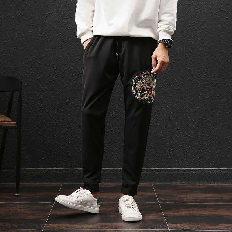 Geleneksel çin giyim erkekler için çin pazarı çevrimiçi pantolon elastik bel kargo pantolon pantolon yeni varış 2018 TA235
