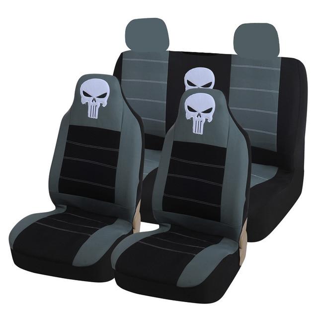 AODELAI 9 UNIDS cubierta de asiento de Coche de La Personalidad cráneos universales asiento para la mayoría de los modelos de las cuatro estaciones general