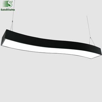 Modern Minimalism Metal Led Pendant Light Dining Room Wave Led Lighting Lamparas Fixtures Arc Suspension Lamp