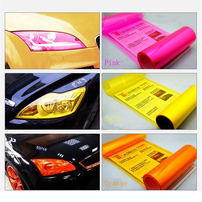 30cm X 200cm Car Sticker Styling Light Headlight Taillight Protect Film on Lamp Stickers Decal Brake Accessories