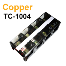 Connection Terminal TC-1004 Electric Current Connector Plate Terminals 100A 600V 4 Position 4P Dual Row Copper