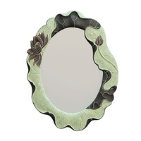 Bath mirror decorative wall artistic individuality bathroom toilet bedroom retro makeup vanity mirror sub circular wx7181718