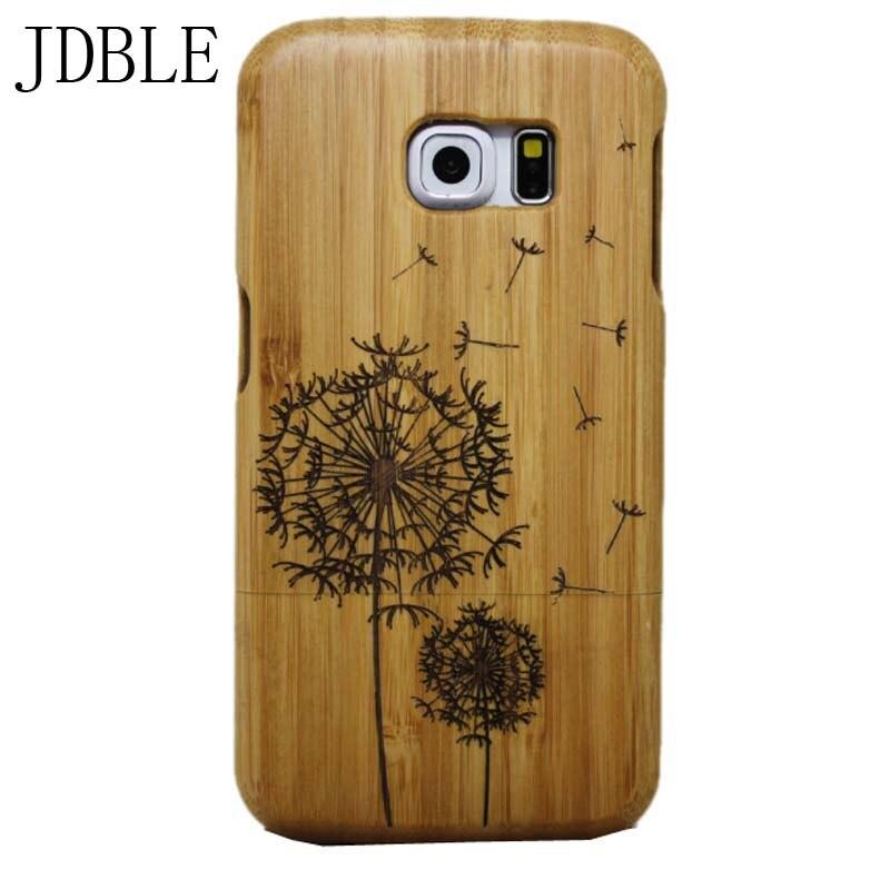 imágenes para 100% madera natural case para samsung galaxy s3 s4 s5 s6 s6sdeg S7edge 2016 A5 A3 A5 A7 S7 Teléfono De Bambú Grabado Patrones JS0318