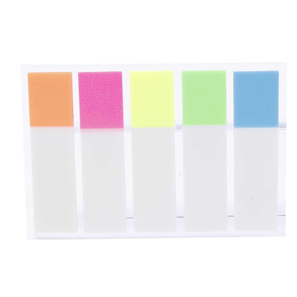 Mignon Kawaii PET mémo bloc-Notes bloc-Notes papeterie autocollant Fluorescent Notes collantes bureau fournitures scolaires étudiant prix cadeaux