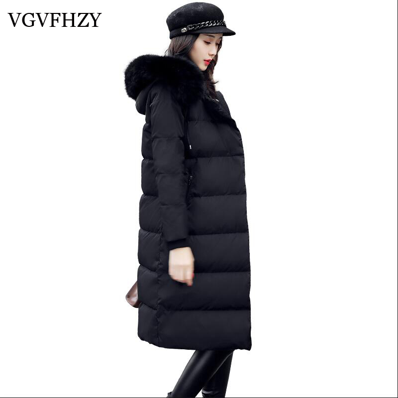 2017 fashion thickening large fur collar   down     coat   women White duck   down   long winter new arrival woman winter   coats   and jackets