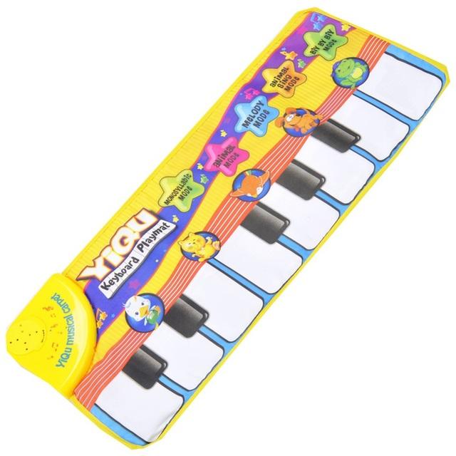 Multi-Funcional Tapetes de Jogo Do Bebê Música de Piano Animal Brinquedos 1month-24month Crianças Tapete 72 cm * 28 cm Sons de Vegetação Rasteira tecido Esteira de Jogo