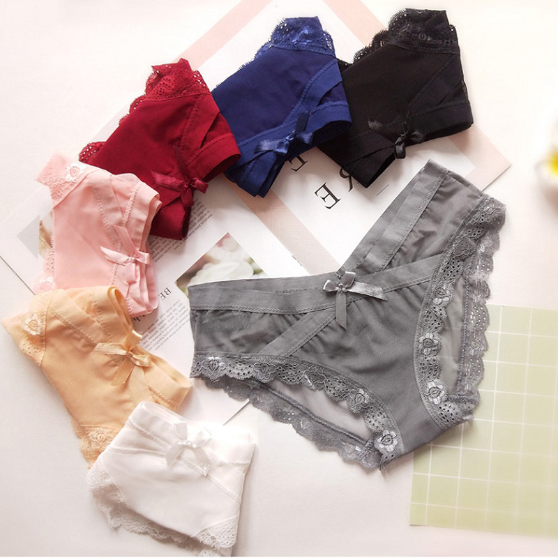 CINOON 2017 Sexy   Panties   Unique Design Low-Rise Cotton Briefs Solid Color Lady Underwear fashion Underwear Six in color